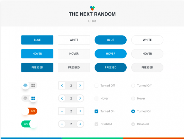 the next random ui kit sketch resource - 無料で利用できるSketch用のUIキット・デザイン素材まとめ