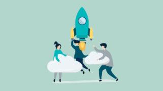 human rocket cloud 320x180 - 退職を伝えられないデザイナーが会社を辞める方法「退職代行」