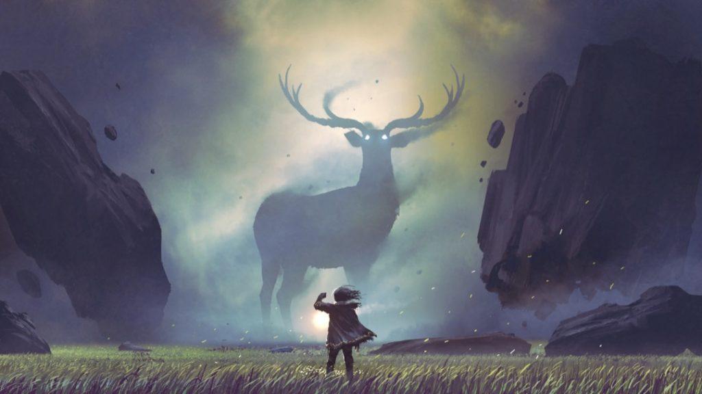 human-deer