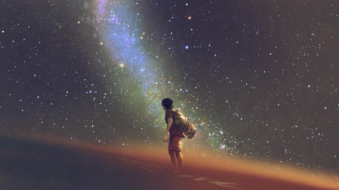 human-sky-star