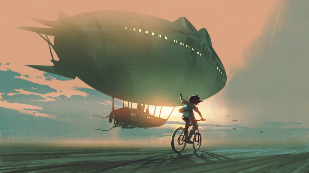 airship-human-bike