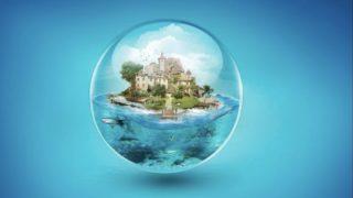 clear sphere 320x180 - Photoshop等で画像編集・合成加工し制作された様々なデザインやアート