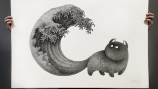 kamwei fong art 320x180 - 猫をテーマにした様々なデザインやアート