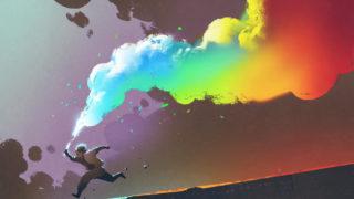 human rainbow smoke 320x180 - ポートフォリオの表紙デザイン「書くこと・参考例」