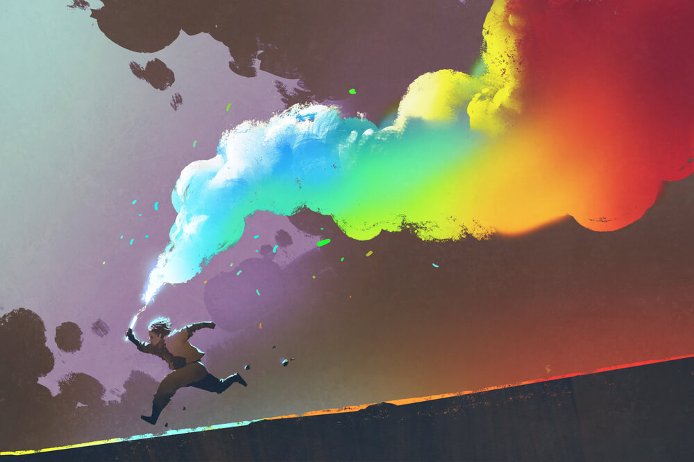 human-rainbow-smoke