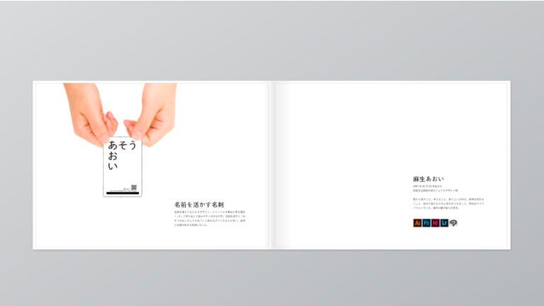 portfolio example 13 - デザインのポートフォリオとは何か?「実物を用いて解説」