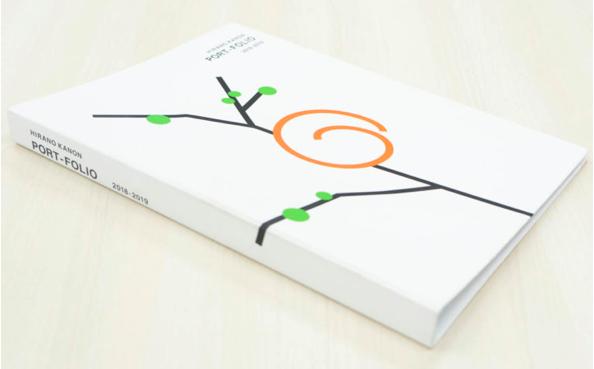 portfolio example 18 - ポートフォリオの表紙デザイン「書くこと・参考例」