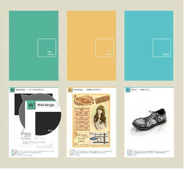 portfolio example 20 - ポートフォリオの表紙デザイン「書くこと・参考例」
