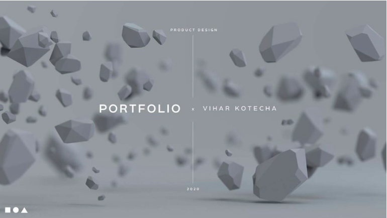 portfolio site example - ポートフォリオの表紙デザイン「書くこと・参考例」