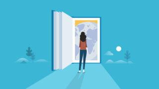 book woman space 320x180 - 学生がデザイナーになるための進路「0から分かるように説明」